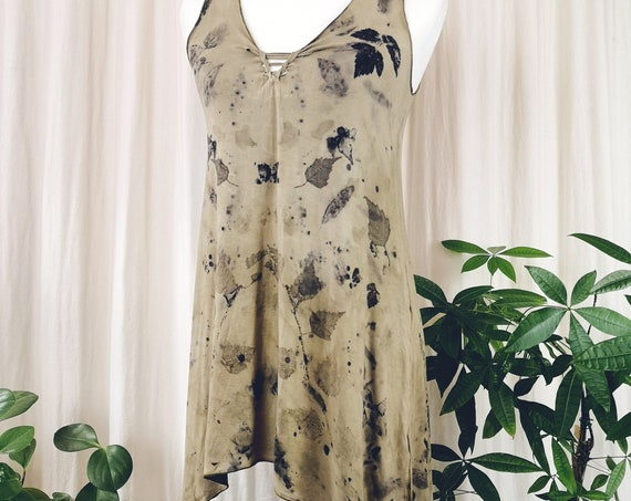 Botanically Dyed Pixie Tunic   Soy Blend Material   Hand Dyed with Botanicals   Small/Medium   Natural Dye
