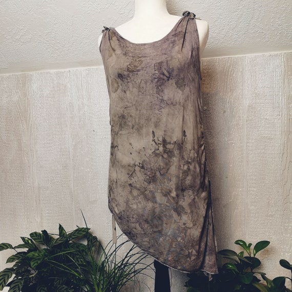 Dark & Stormy Angle Tunic | Eucalyptus | Weeping Birch | Large