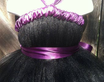 Black Plum Tutu Dress
