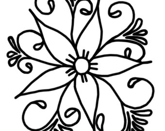 Coloring Page: Flower