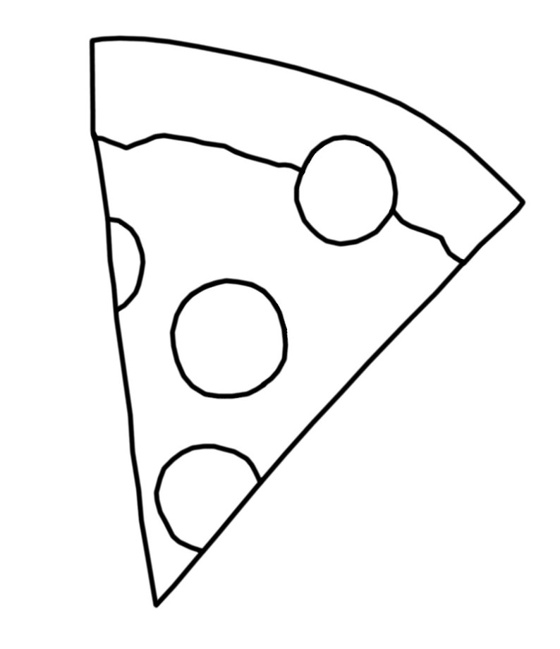 Coloring Page Pizza Slice Etsy