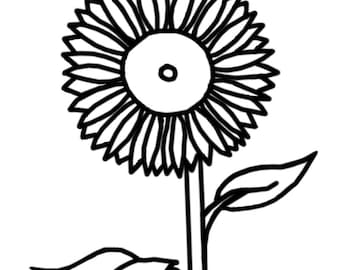 Coloring Page: Sunflower