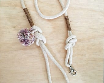 Handcrafted 100% cotton rope leash, rope lead, dog lead, dog leash, puppy leash, puppy lead, cotton leash, cotton lead dog leash