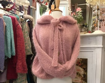 Pink mohair and lurex jacket