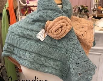 "Dry wool shawl collar * ""Amandine"""