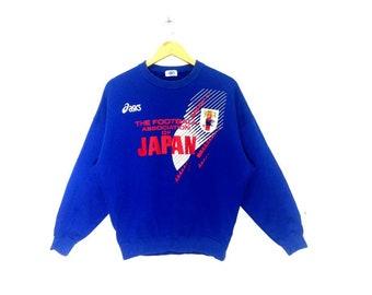 6ac75aacd421 RARE!!! Vintage Asics Japan football team 90s