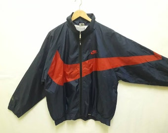 new concept 28d5c 8fa15 Rare nike pullover big logo rainbreaker wind breaker front and back  deadstock big swoosh