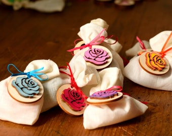Tag for custom colored wooden wedding favor 10 pieces