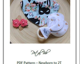 Petal Bib PDF Pattern & Tutorial - Newborn to 2T