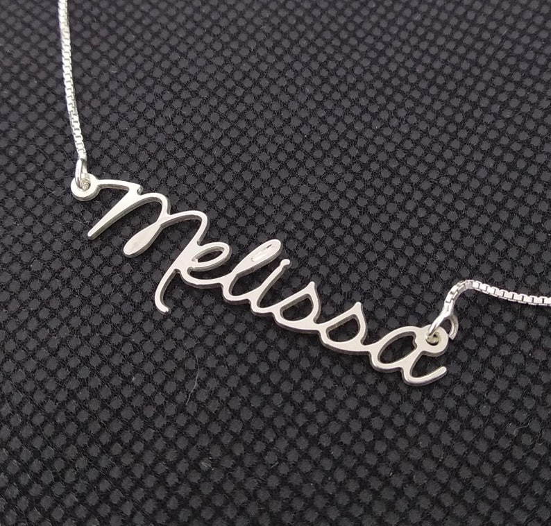 545ac8773c48f Melissa Style Name Necklace - custom name plate necklace , personalized
