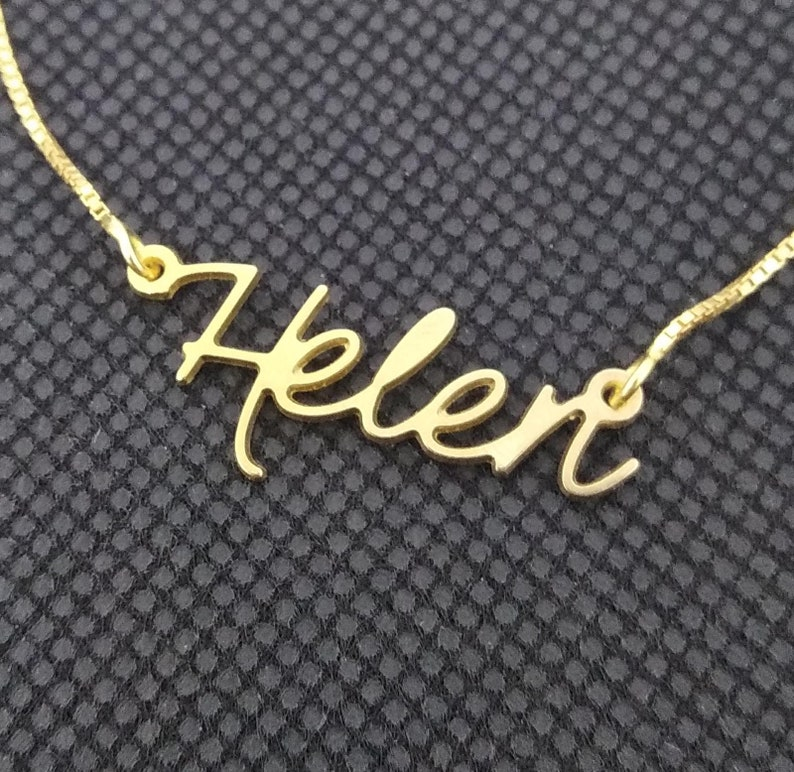 Personalized Name Necklace • Customized Your Name Jewelry • Best Friend  Gift • necklace with name • gold plated name • Helen