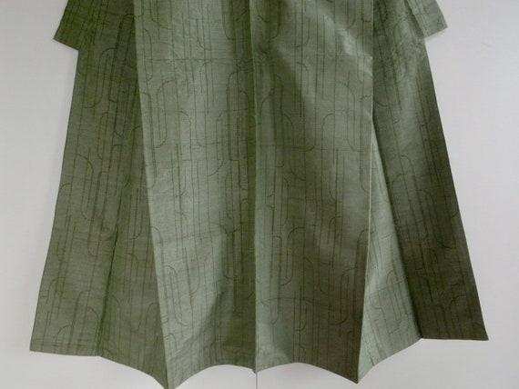 Vintage silk pongee kimono, 150cm - Wabi sabi - k… - image 8