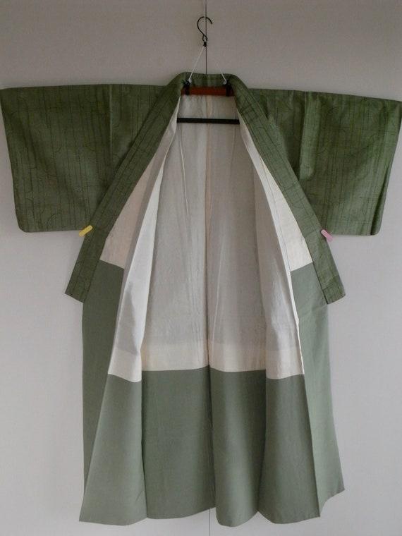 Vintage silk pongee kimono, 150cm - Wabi sabi - k… - image 2