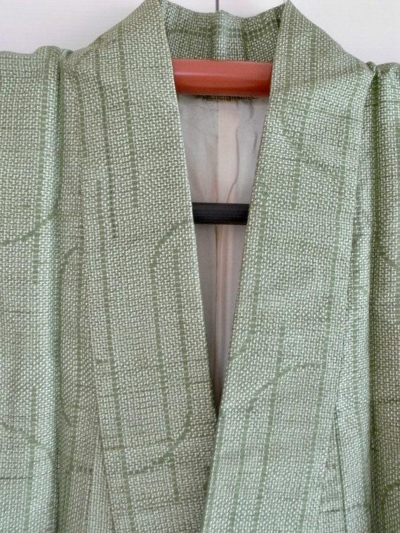 Vintage silk pongee kimono, 150cm - Wabi sabi - k… - image 7