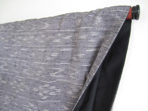 Vintage tsumugi kimono, pongee kimono, 148cm - Wab