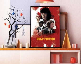 Pulp Fiction, Pulp Fiction poster, Pulp Fiction print, Pulp Fiction wall art, Home decoration