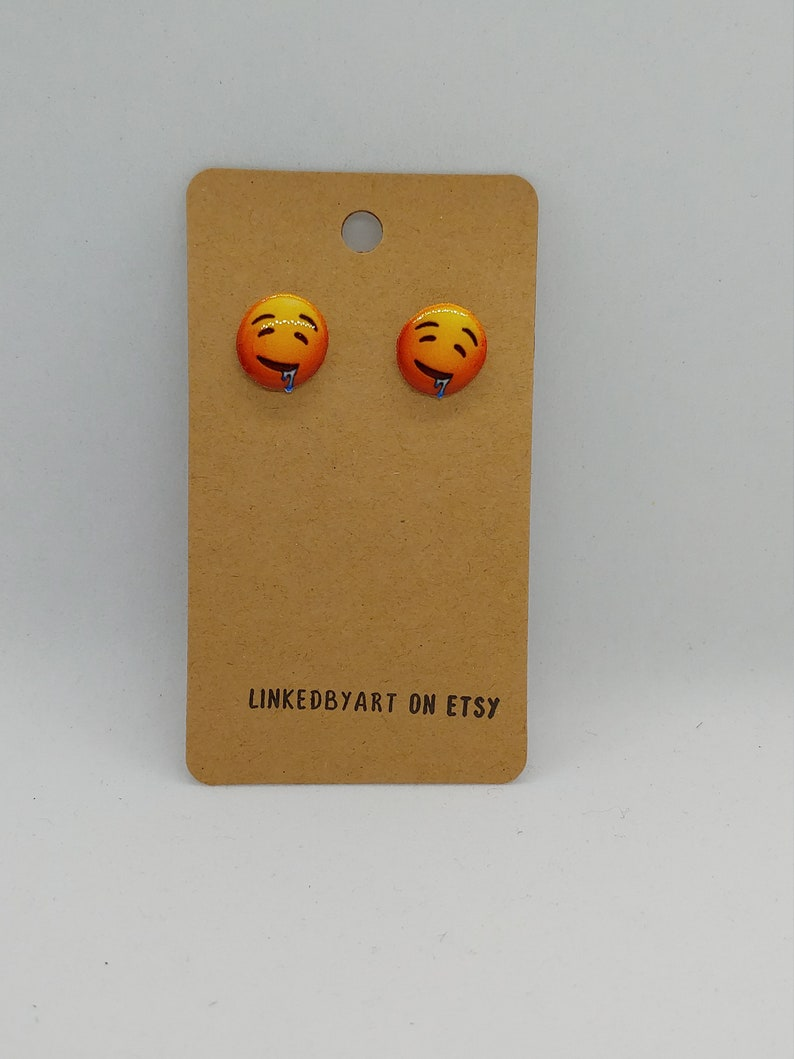 Drooling Face Earrings Handmade and Hypoallergenic