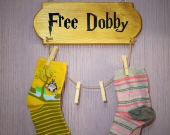 Hang Socks Harry Potter-Free Dobby