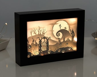 nightmare before christmas halloween decor nightmare before christmas light box halloween decorations halloween gift - Nightmare Before Christmas Halloween Decorations For Sale