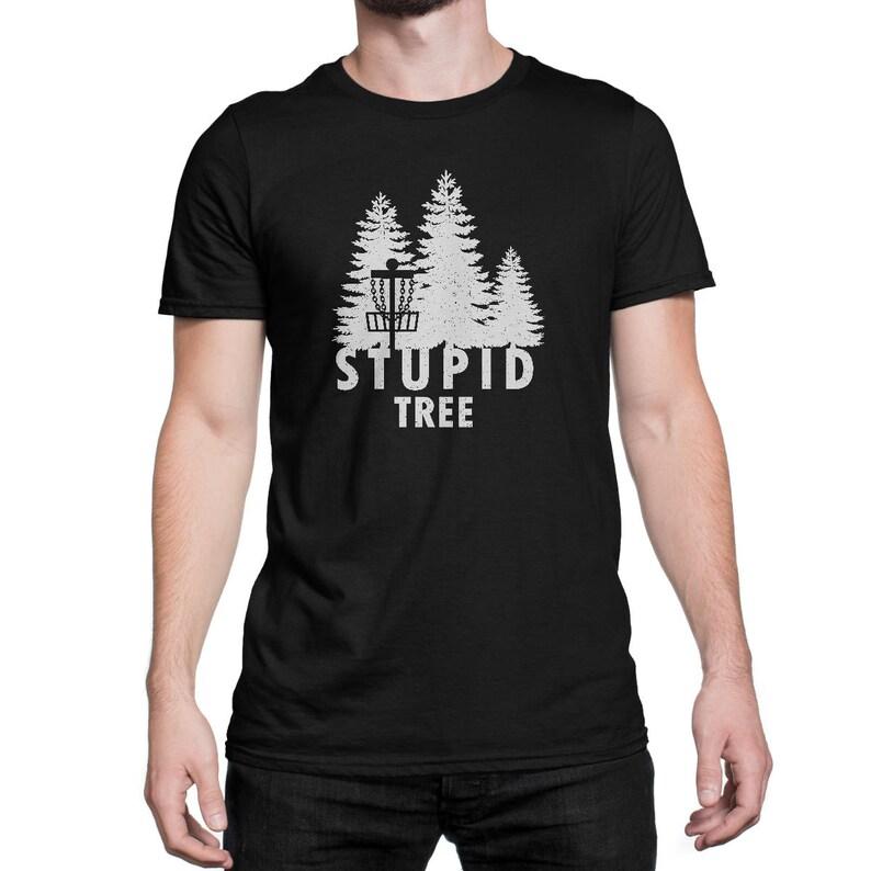 3c8e15231 Stupid Tree Shirt Funny Vintage Disc Golf Tee   Etsy