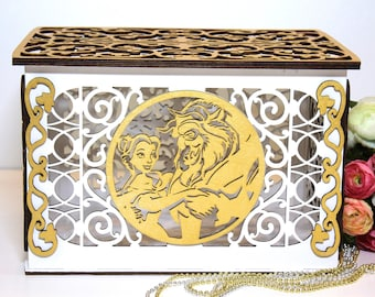 Wedding Card Box With Lock With Slot Personalized White Money Etsy