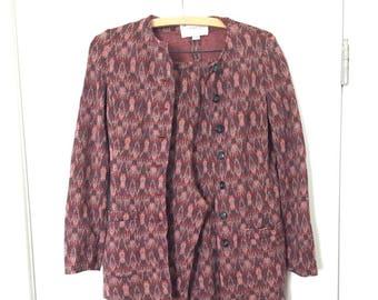 Geo Jacquard Knit Suit