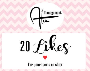 Increase likes on your business, 20 like Promoted listing with like number increase on items or shop, like help for your business visibility