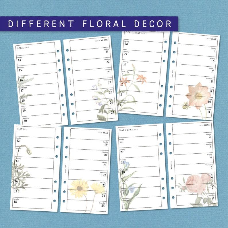 Sarah Bloom – Editable printable planner – 2019 – Week per Page – Sunday  start – Add your own text – Filofax Personal size – Kikki K medium