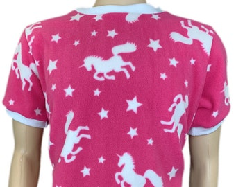 Cuddlz Short Red Elephant Pattern Fleece Adult Onesie Crotch Fastening With Poppers Body Suit Romper For Men or Women ABDL