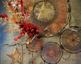 Dreamcatcher Christmas Christmas chocolate hazelnuts forks red high precious expensive snowflake snowflake Star Gift Nature