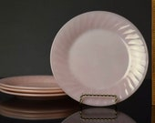 Vintage Anchor Hocking Fire-King Pink Swirl Plate