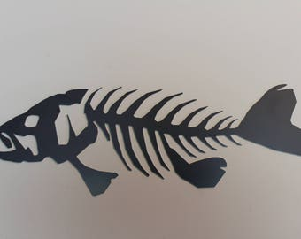 Attrayant Metal Wall Art Fish // Rustic Largemouth Bass // Dad Gift // Fishing Cabin  Office Man Cave Decor