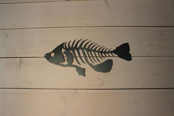 Metal Fish Art Crappie  Cabin Man Cave Office Decor Fishing Gift
