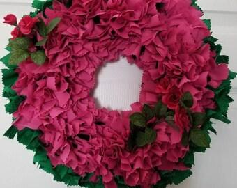 Roses, Roses Rag Wreath