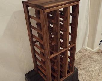 Wood 24 Bottle Stick Wine Rack Reclaimed Wood Custom Stain