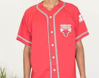 56e5072e6 Vintage Starter Chicago Bulls Baseball Jersey