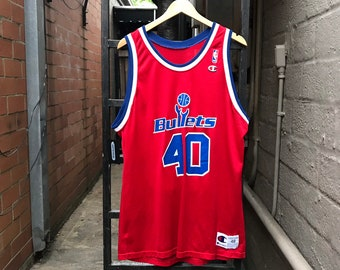 42be856257fdc8 Vintage Washington Bullets Calbert Cheaney Jersey