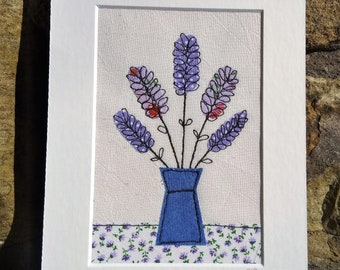 Free Motion Embroidered Picture