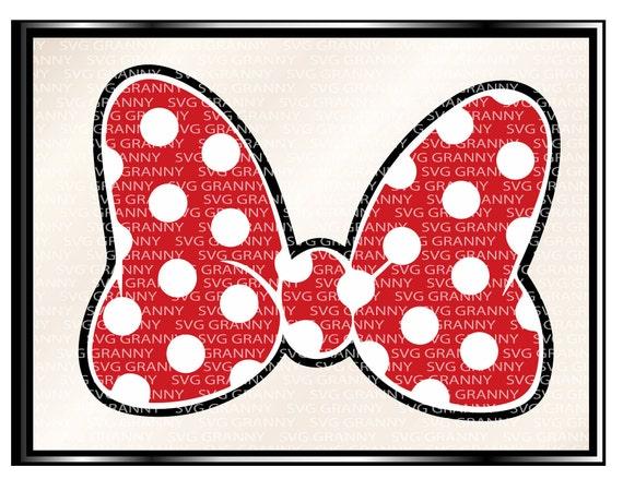 SVG DXF PNG Minnie Maus Ohren Bogen Polka Dot Clipart Schnitt | Etsy
