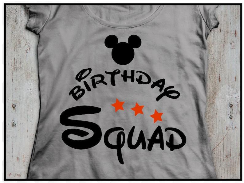Disney Birthday boy Svg Disney family shirt Bundle Disney Birthday bundle Ears Mickey Mouse Svg Cut Files Dxf studio.3 Birthday squad
