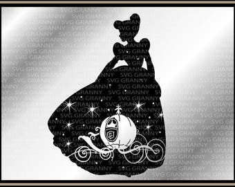 Cinderella golden carriage, disney, svg, Png , Layered, Cut File Cricut Designs Silhouette Cameo, Vinyl Decal, Iron on