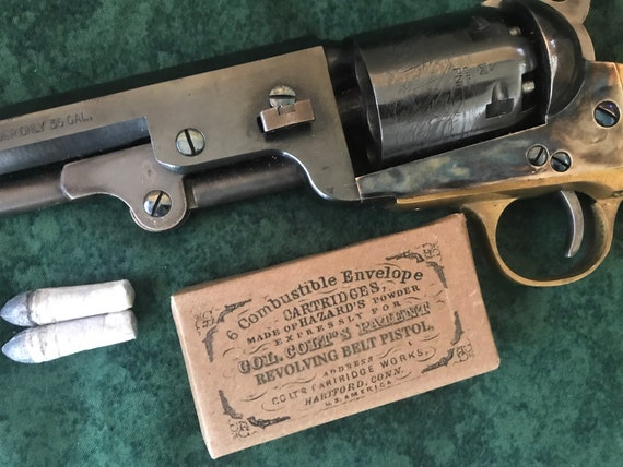 2pcs Paper cartridge former .36cal Civil war revolver cartridge boxes .36cal