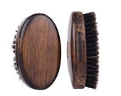 Customize Logo-Vintage Style Boar Bristle Brush For Men Beard Care Brush Hair brush Makeup Grooming