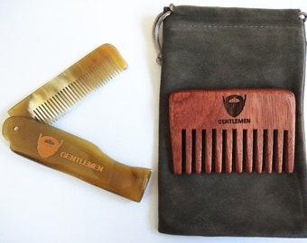 Folding beard comb | Etsy
