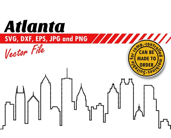 Clipart Png US Skyline #1 Svg Stencil Silhouette and Cut files. Dxf Eps Printable