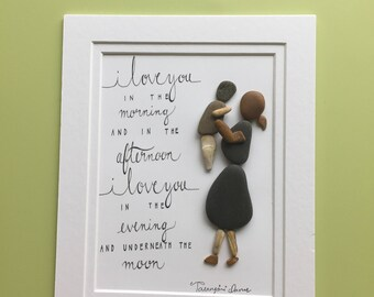 Love of mother pebble art