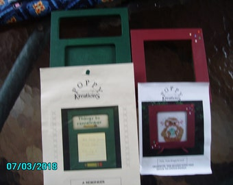 2 Counter Cross Stitch Sayings with Frames by Poppy Kreations