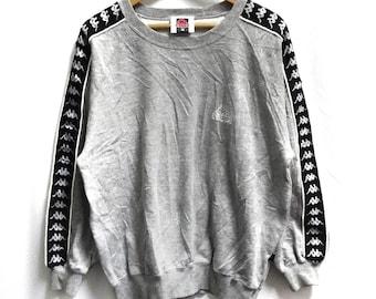 eefcd81ba4ea Vintage KAPPA side tape embroidery small logo crewneck pullover jumper  sweatshirt size L