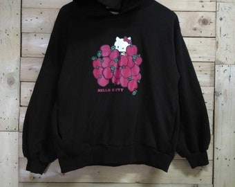 73e283b82 HELLO KITTY epal printed hoodie sweatshirt black size M