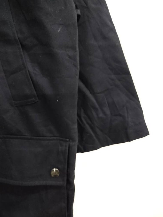 Vintage BURBERRY'S hoodie field jacket dark blue … - image 6